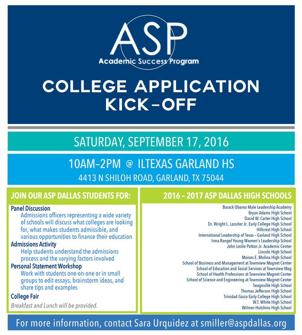 college kick off academic success program