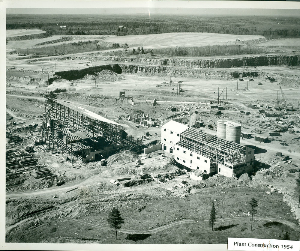 1954 Marmoraton Mine Plant Construction