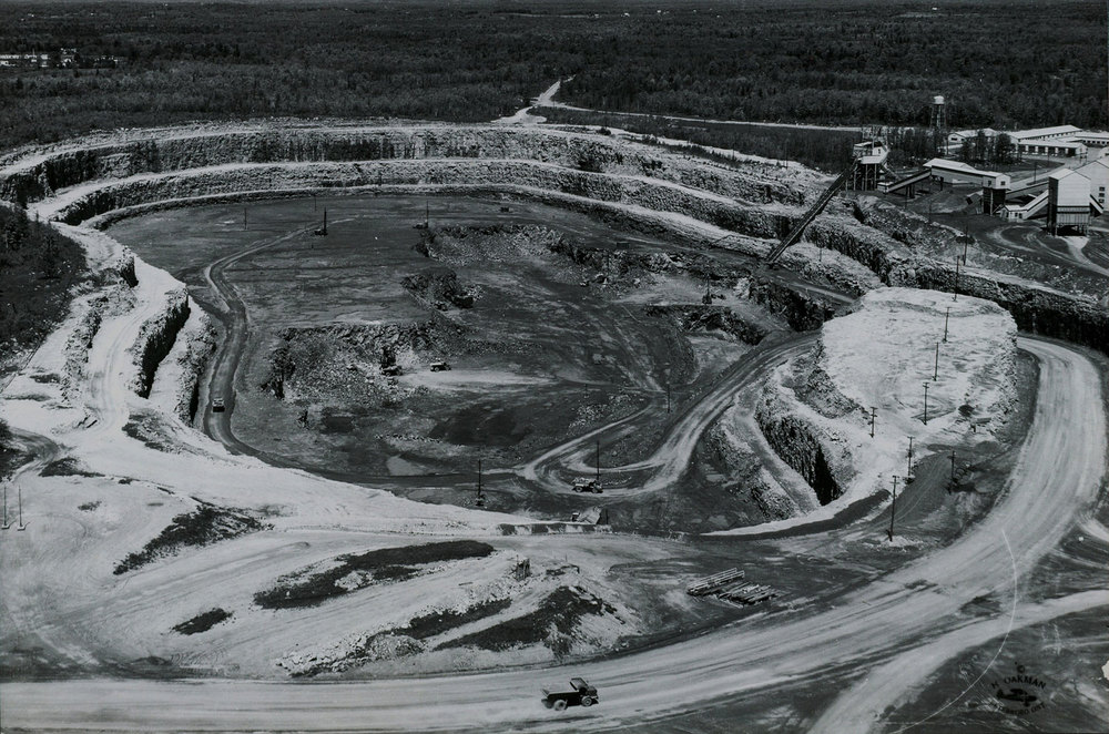 1958 Marmoraton mining Co. Pit ,  looking north