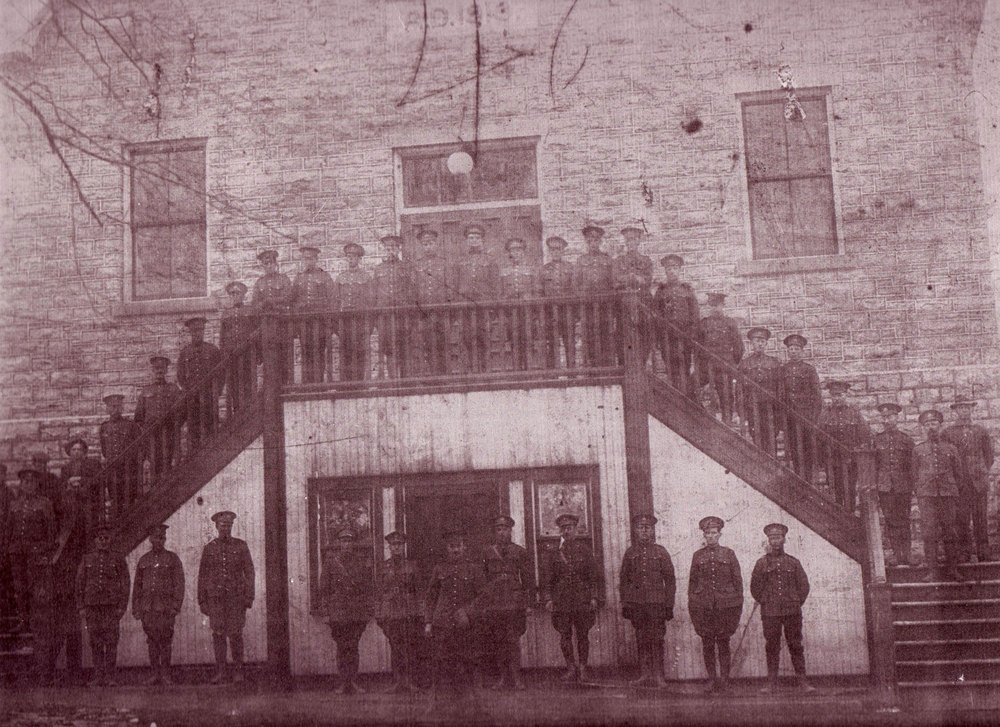 Soldiers at Town Hall, 1914