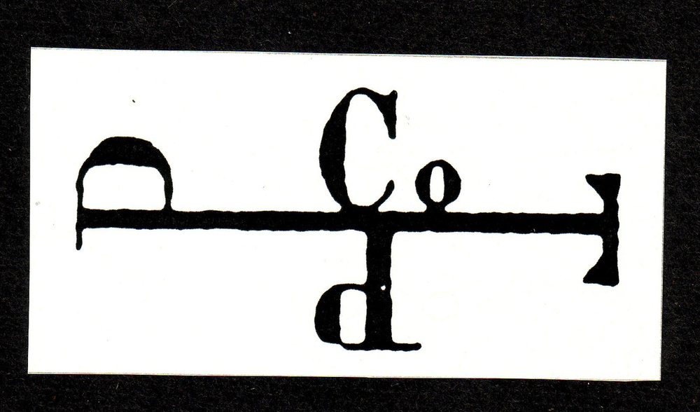 Pearce Company logo and Log Stamp