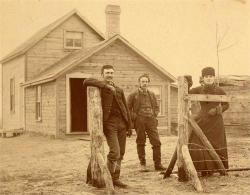 1885 George Campion, Henry Stevens, Elizabeth Campion Stevens