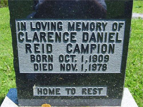 Clarence Daniel Reid Campion