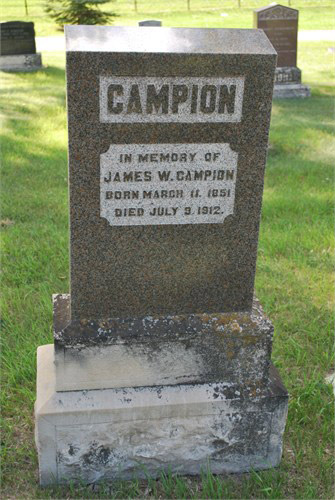 James William Campion Gravestone