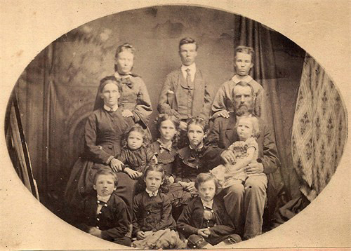 William & Maria (Campion) Young & 10 Children