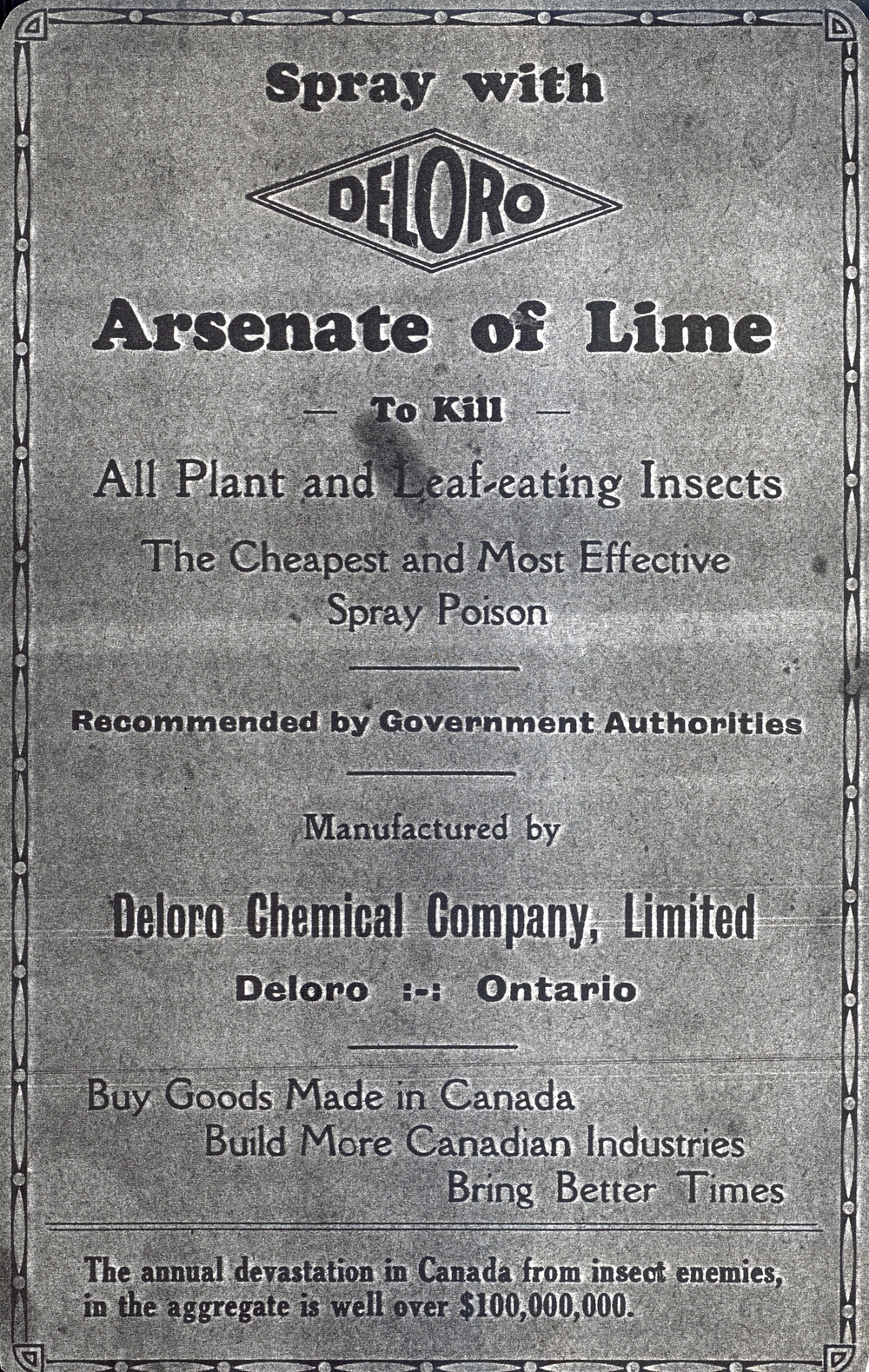 Deloro Chemical Co. Arsenic Advertising