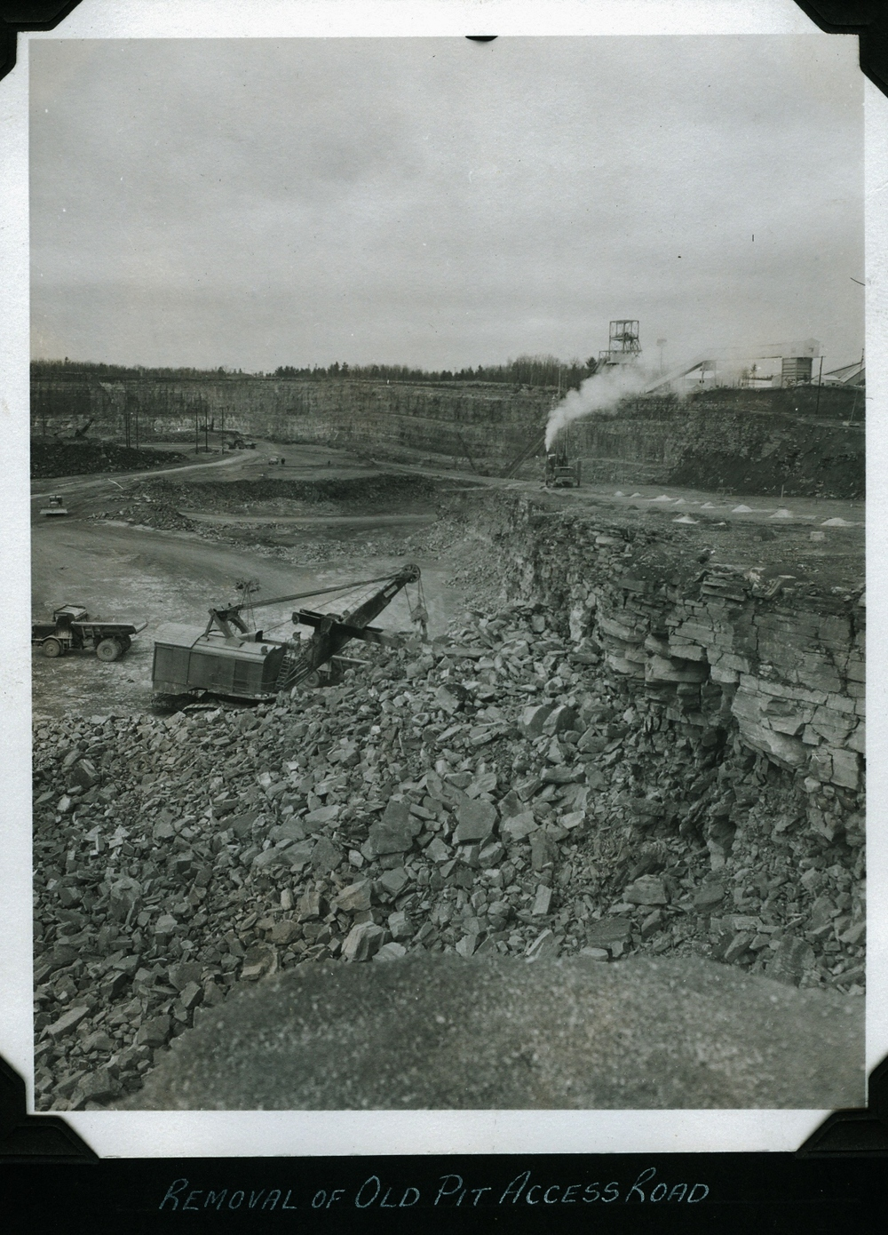 Marmoraton Mine - removal of Old pit road