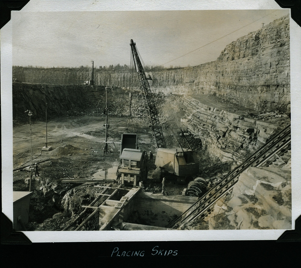 Marmoraton Mine,  Marmora,  Bethlehem Steel - placing skips