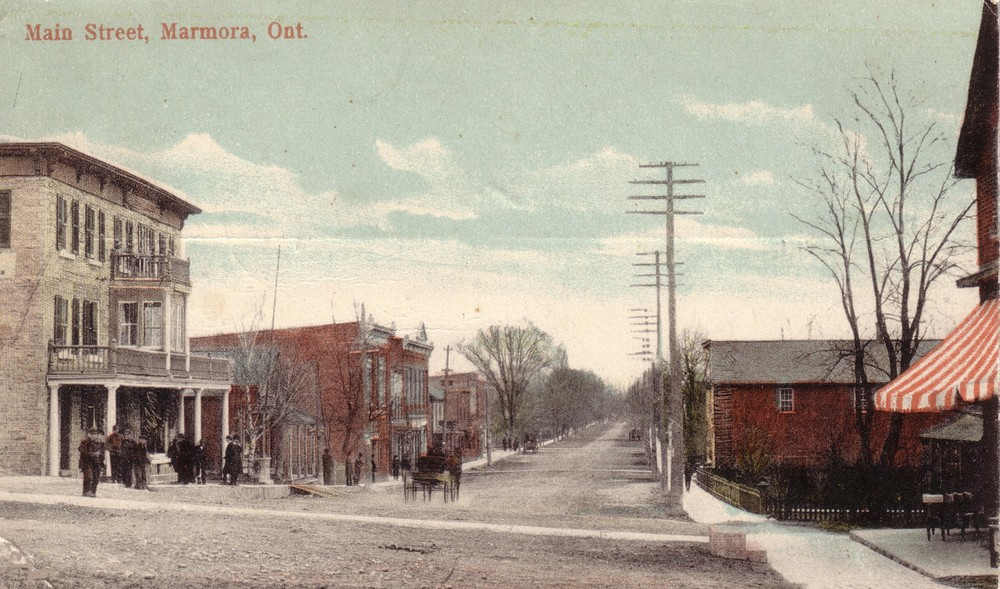 1857  Red Brick building on right is 9/11 Forsyth Street,  now an empty lot adjacent to Dr. Parkin House