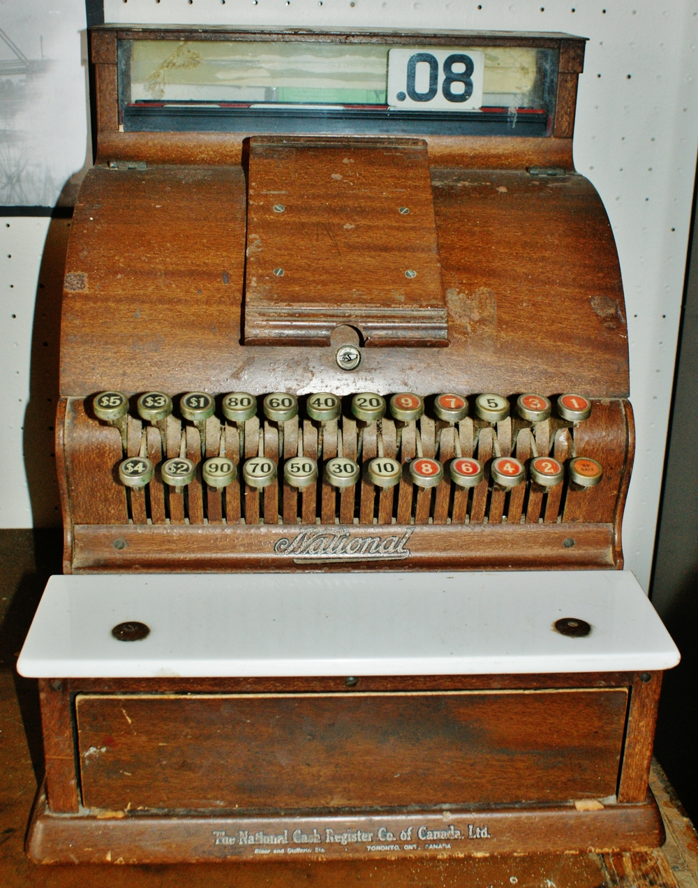 Cash register from Vaughan Glover's IGA
