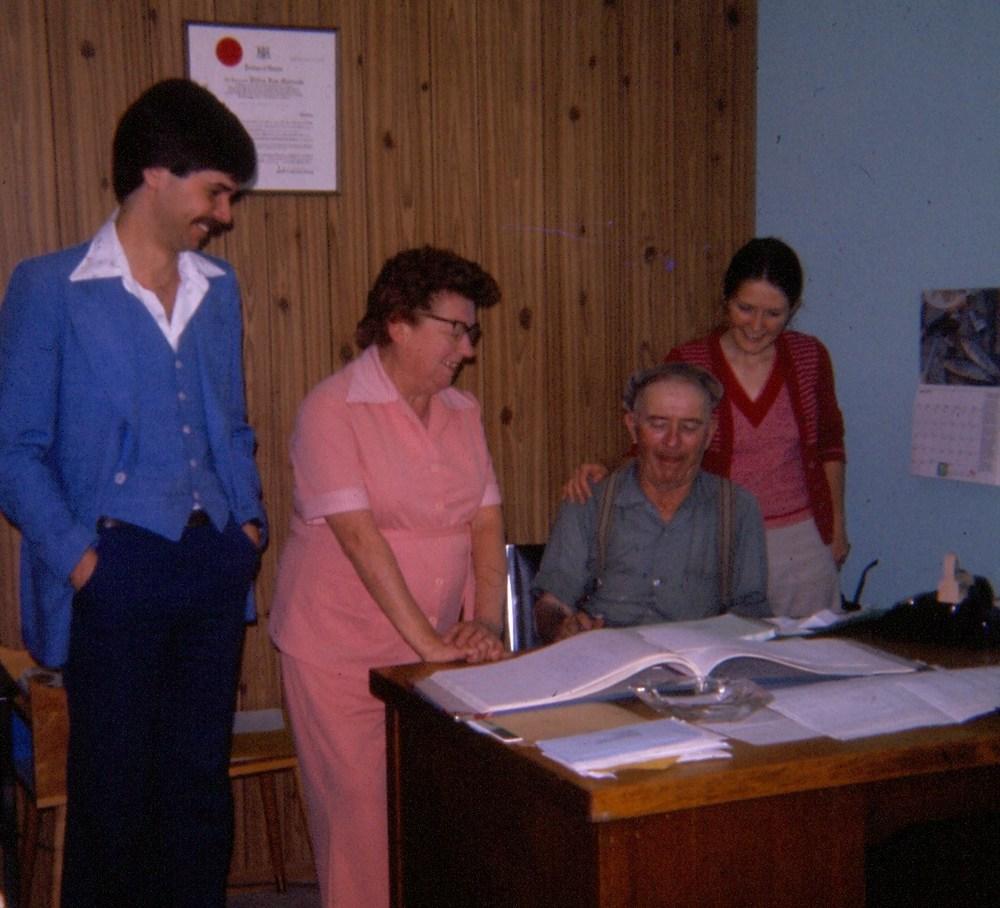 Lionel Bennett, Adele Anderson, Pete Flynn, Donna Bennett c.1976