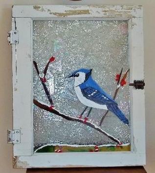Blue Jay in Window - sold