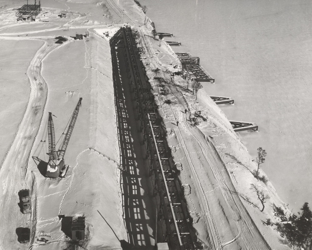 1958 Stockpile & dock near Picton  Marmoraton Mine