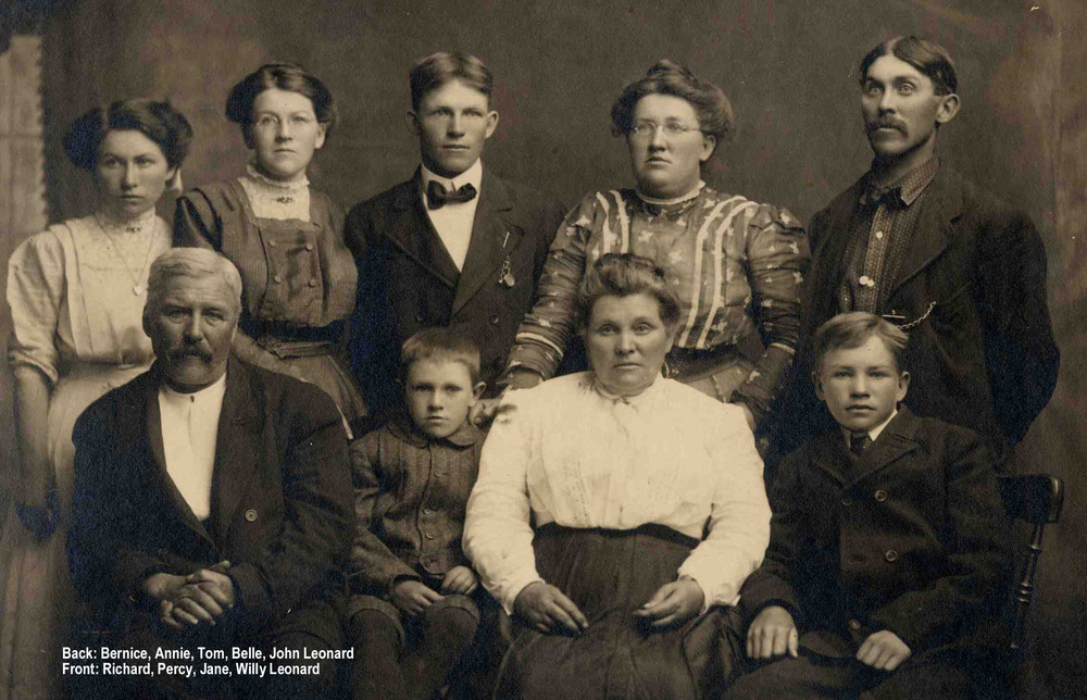 Based on the ages of the children in the photo, this portrait was taken in Manitoba. They lived outside of Minnedosa.