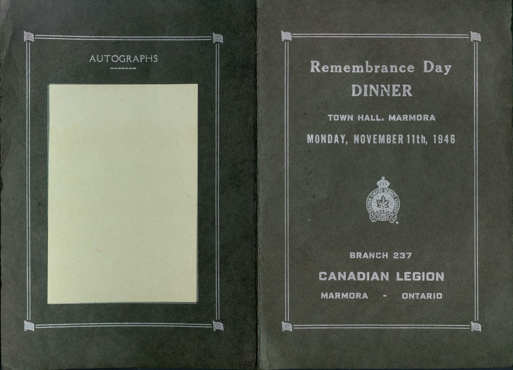 Wartime - Remembrance Day Program 1946, pg1 Town Hall, British Empire Service League,  Canadian Legion (2).jpg