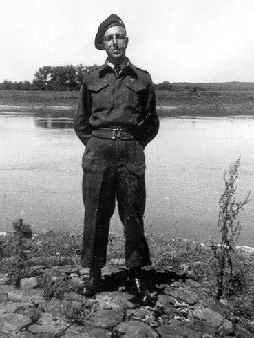 Norman (Tut) Sopha in Holland WWII