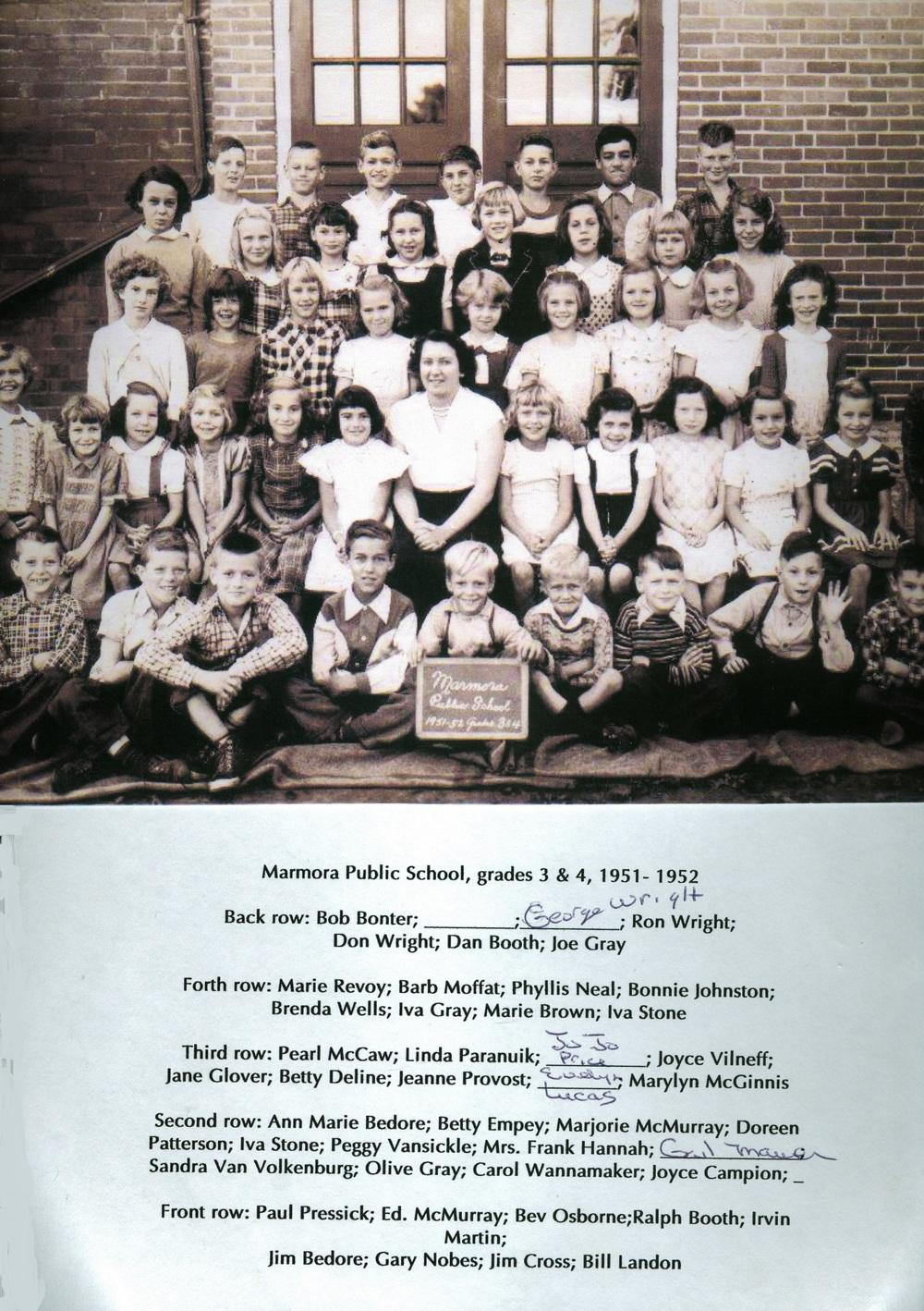 1951-1952 Marmora Public School,  Grades 3 & 4.jpg