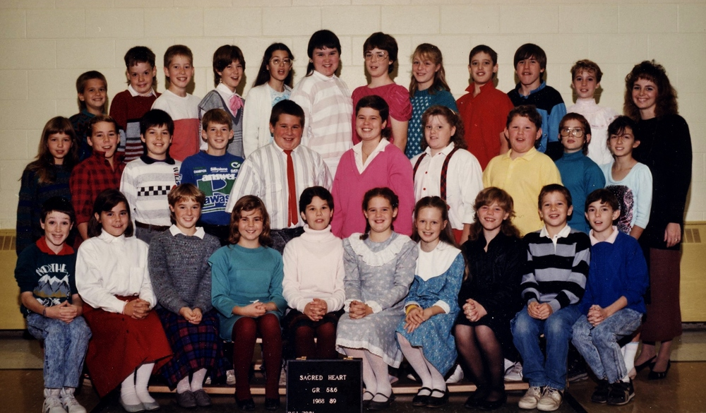 Sacred Heart School,  Grade 5/6  1988/89
