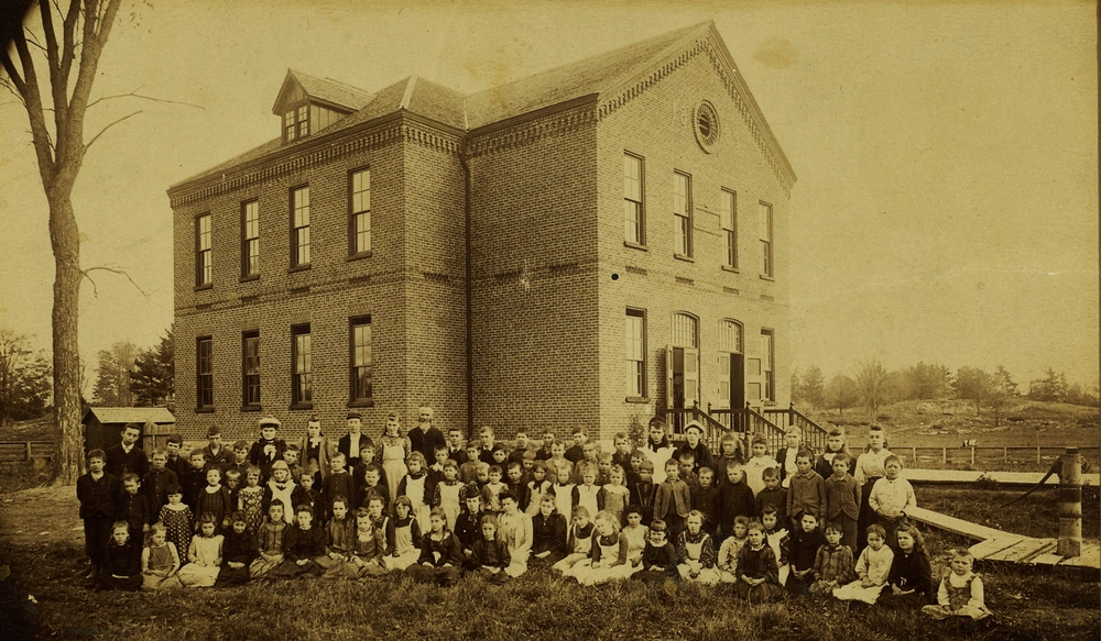 Original public school that stood on the site of the present day legion.