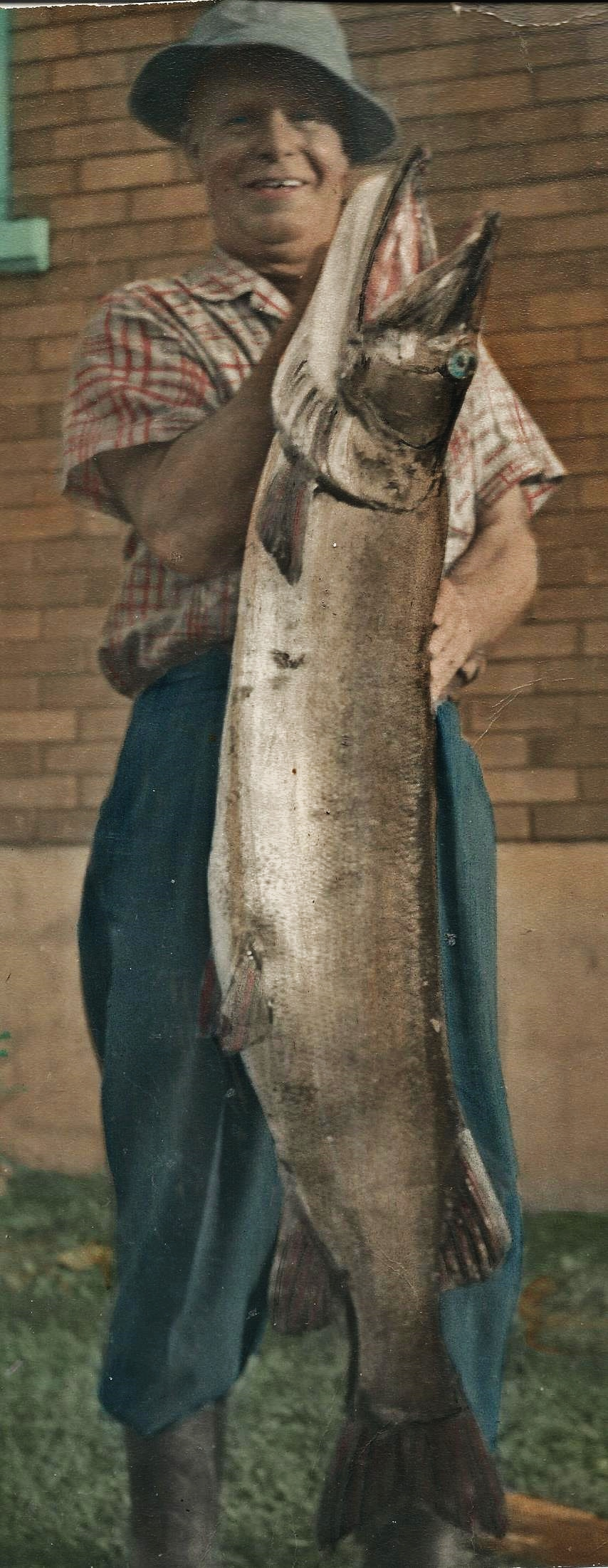 George Brooks & 42 lb Fish, 1948
