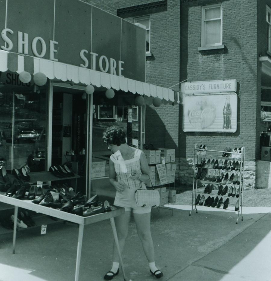 Shoe store, 1966