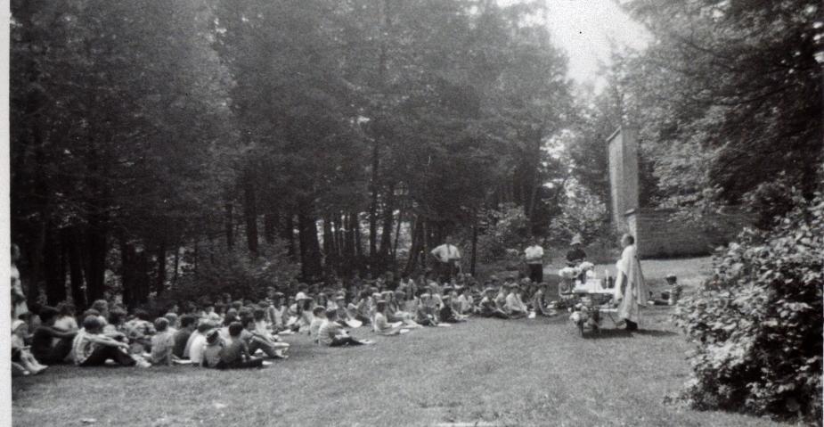1976 St. Matilda's, Marmora, school mass with Father Scanlon