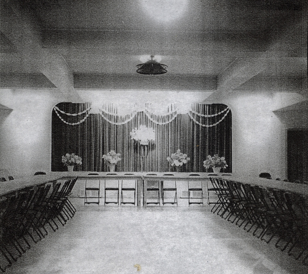 Roman Catholic Church  Parish Hall,  decorated for wedding of Bernard Doyle and Mary Shannon