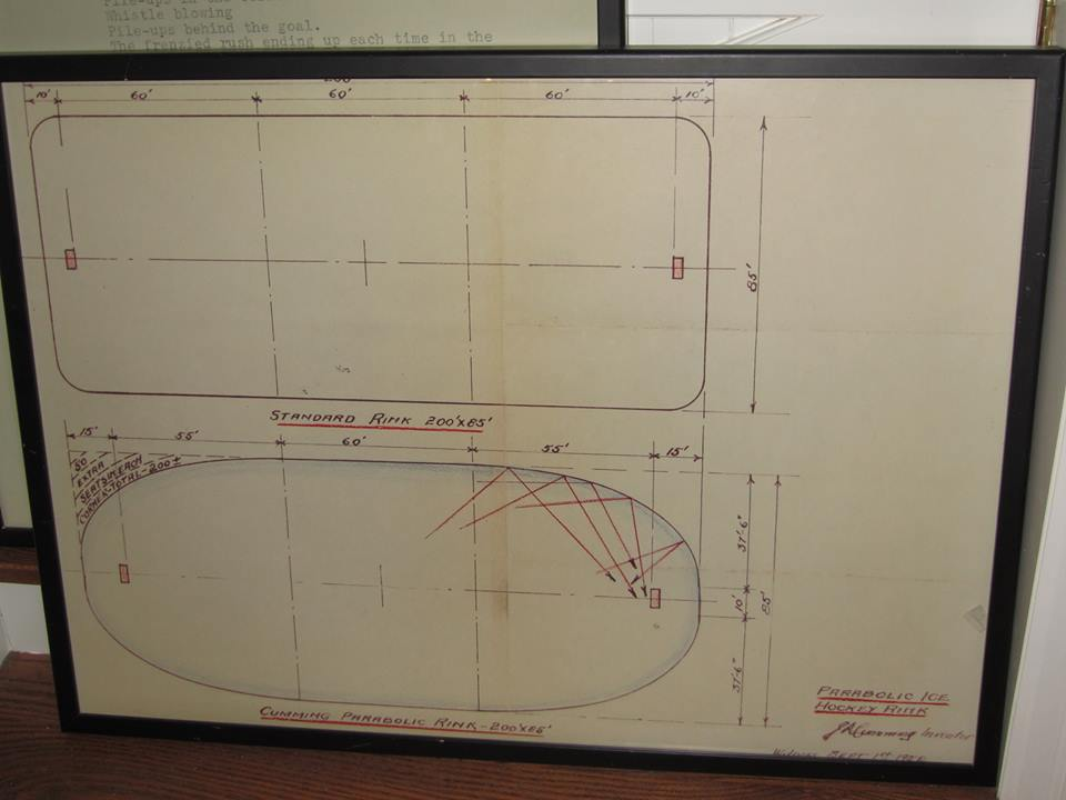 J.R. Cummings,  Plan for Parabolic Ice Rink (From Aaron Logan)