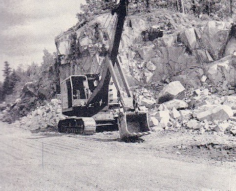 1949 -working on rockcut west side of Marmora Village