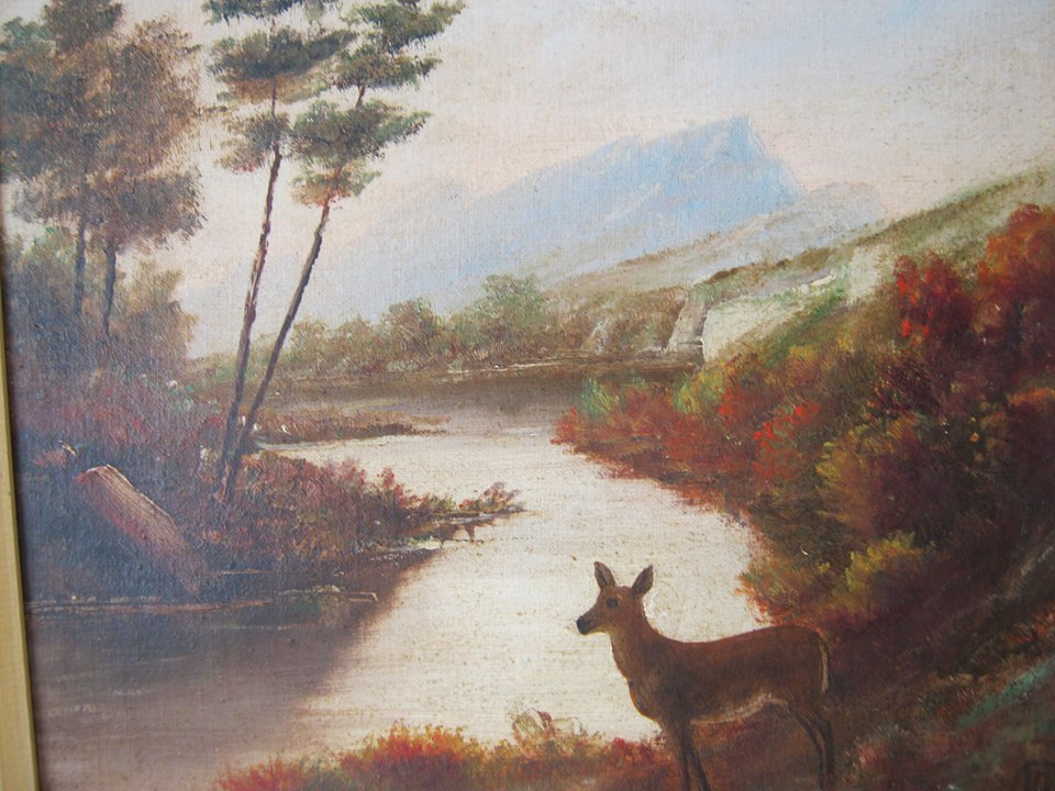 Painting by William Archer (Mable & Ada Brady's father)