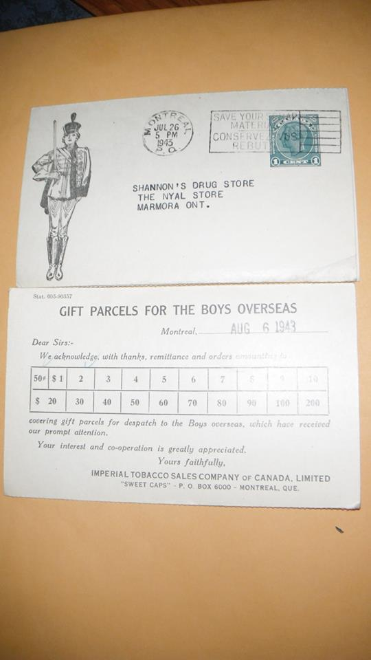 1945 Gifts for boys overseas