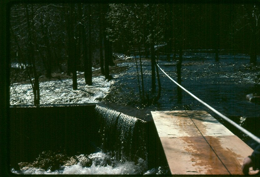 1976 Flood,  Dam on Crowe River