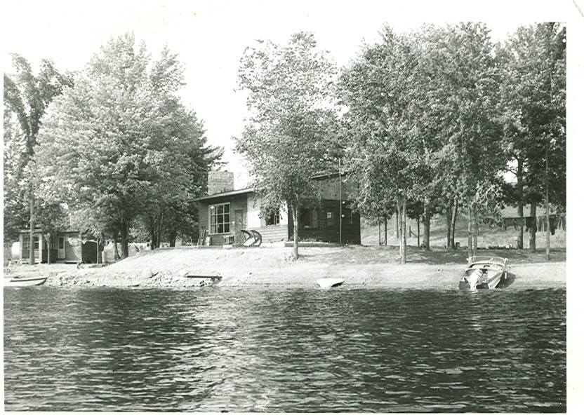 The Mawer house on the Crowe River,that burned to the ground 1960