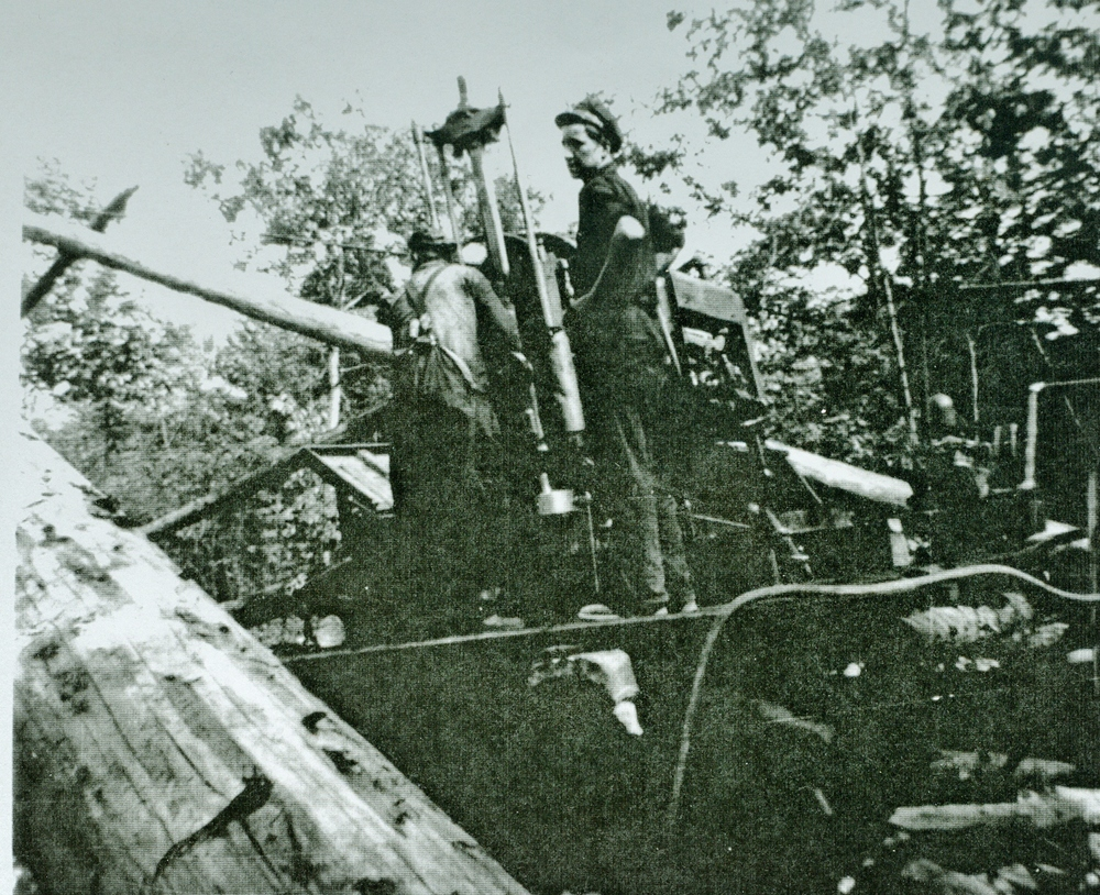 Marmoraton Mining 1949-50 Joe Young and Don Logan diamond drilling