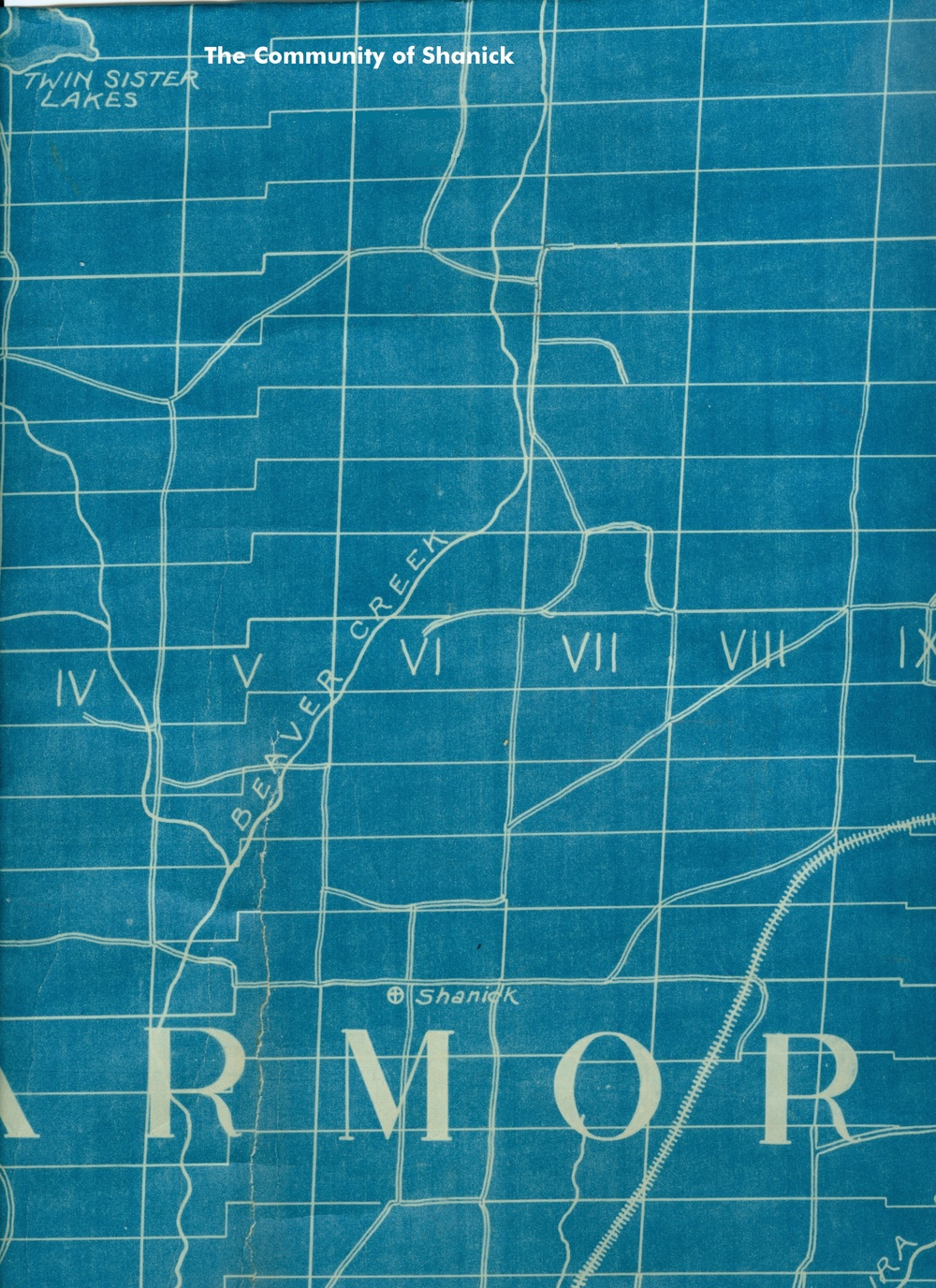 Although this map is dated 1925,  it still shows the orginal location of shanick at the intersection of centre line road and beaver creek road