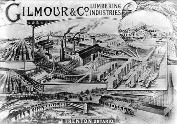 The Gilmour Lumber Co.  had a big presence in the Marmora area and a fascinating history of ambition and creativeness.  Click here to link into the Dorset Museum website with 128 photographs.