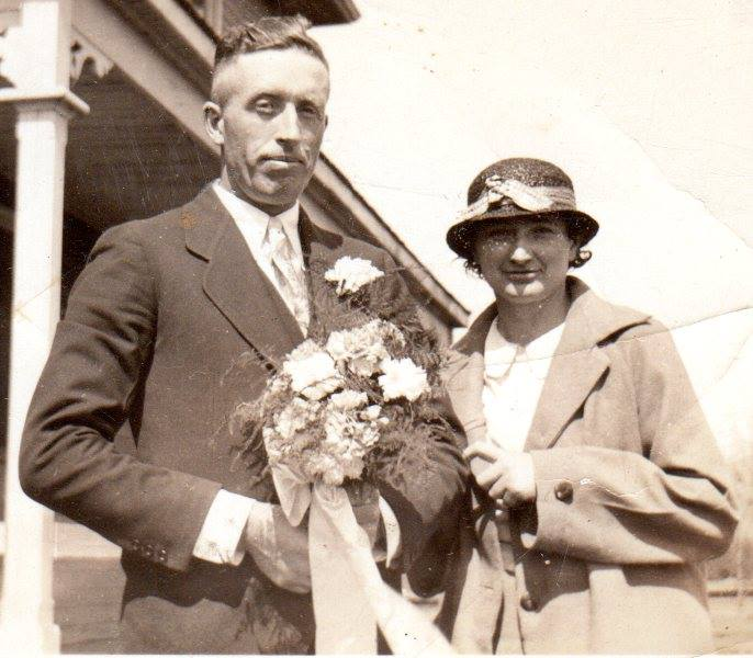 Charles Gallagher (brother of Madeline Maloney, Myrtle McCormick, Helen McKinnon) with his wife, Tress (O'Neill) - sister of Charlie O'Neill