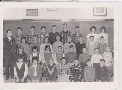 Jim Spry 's Grade 7 class. Teacher was Mr. Turpin.