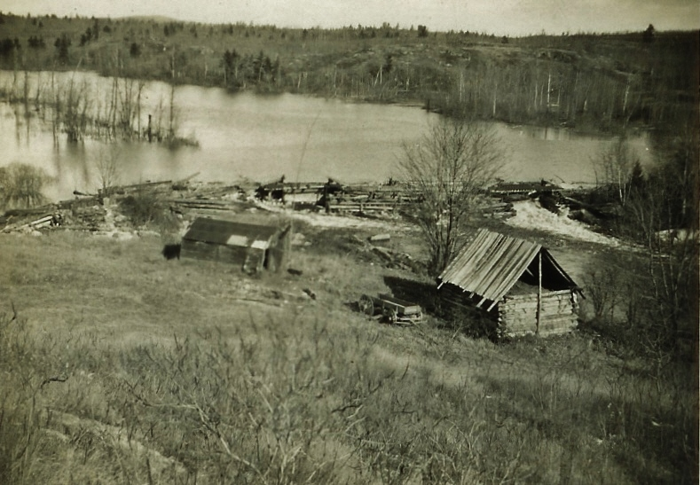 Milo Van Volkenburg's Hunting Camp c.1930 below Whetstone L.