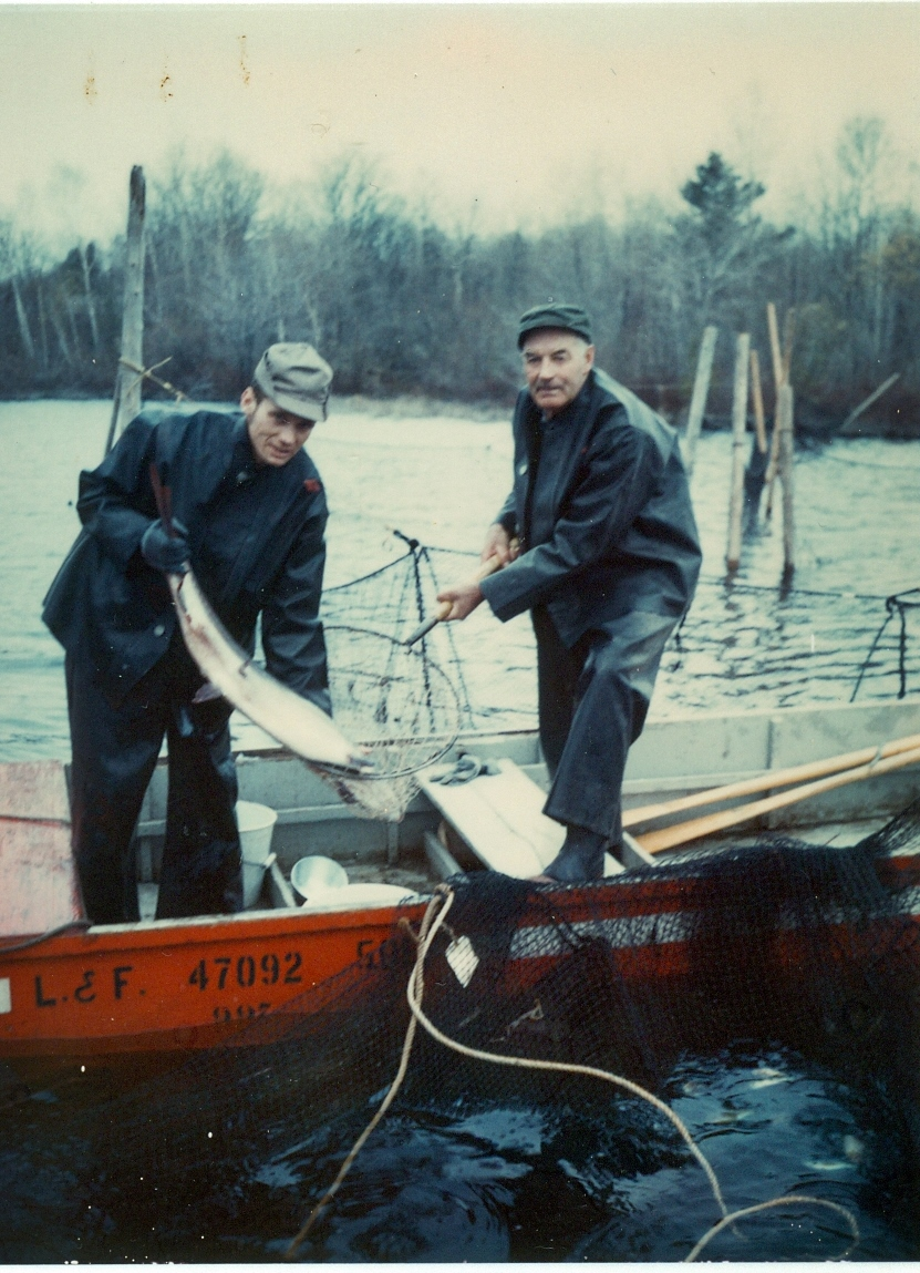 1971 Deer Lake fish Hatchery,  Wayne Vanvolkenburg, left,  Ed Bowen rt.