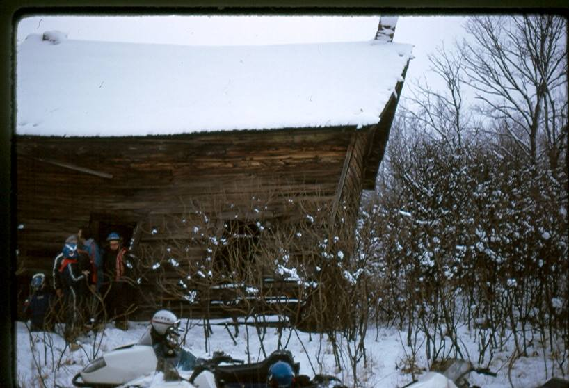 From Glen Mawer:      Found this building while snowmobiling north of Gulf bridge ,about 45 years ago. Likely long gone now
