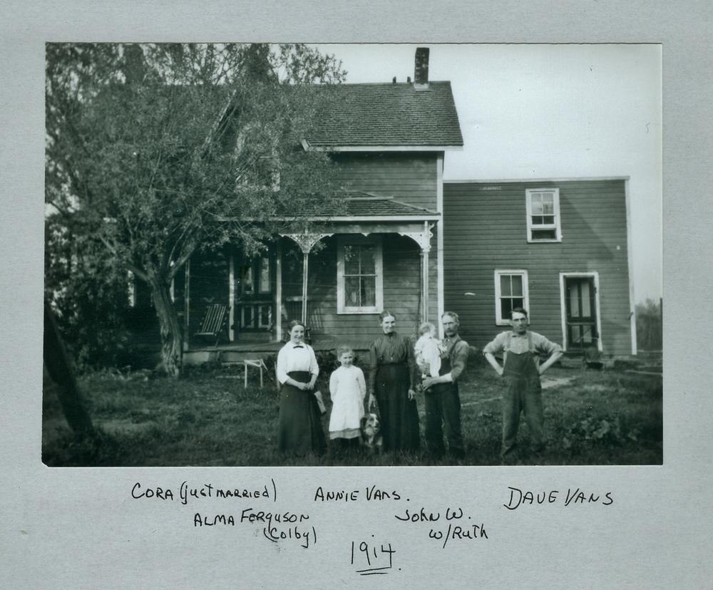 The vansickle homestead 1914