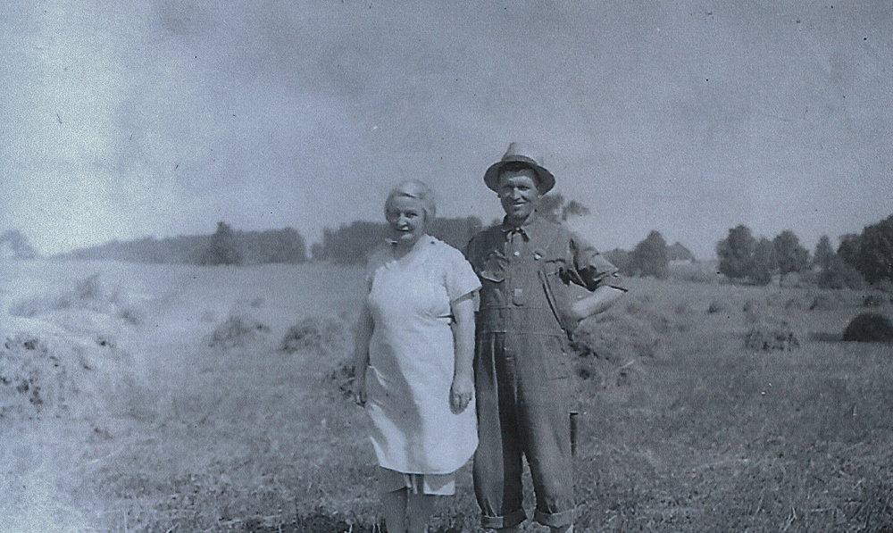 Harry Henry & Cora Vansickle Haying season