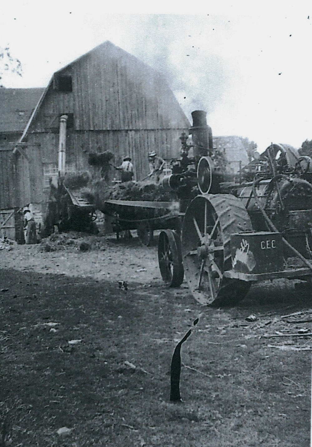 Harry Vansickle Threshing Machine & Steam Engine, East side of Vansickle
