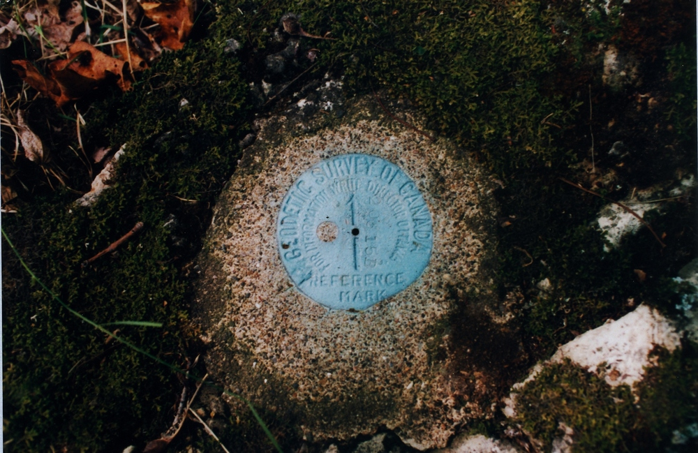 Survey marker n the Vansickle property