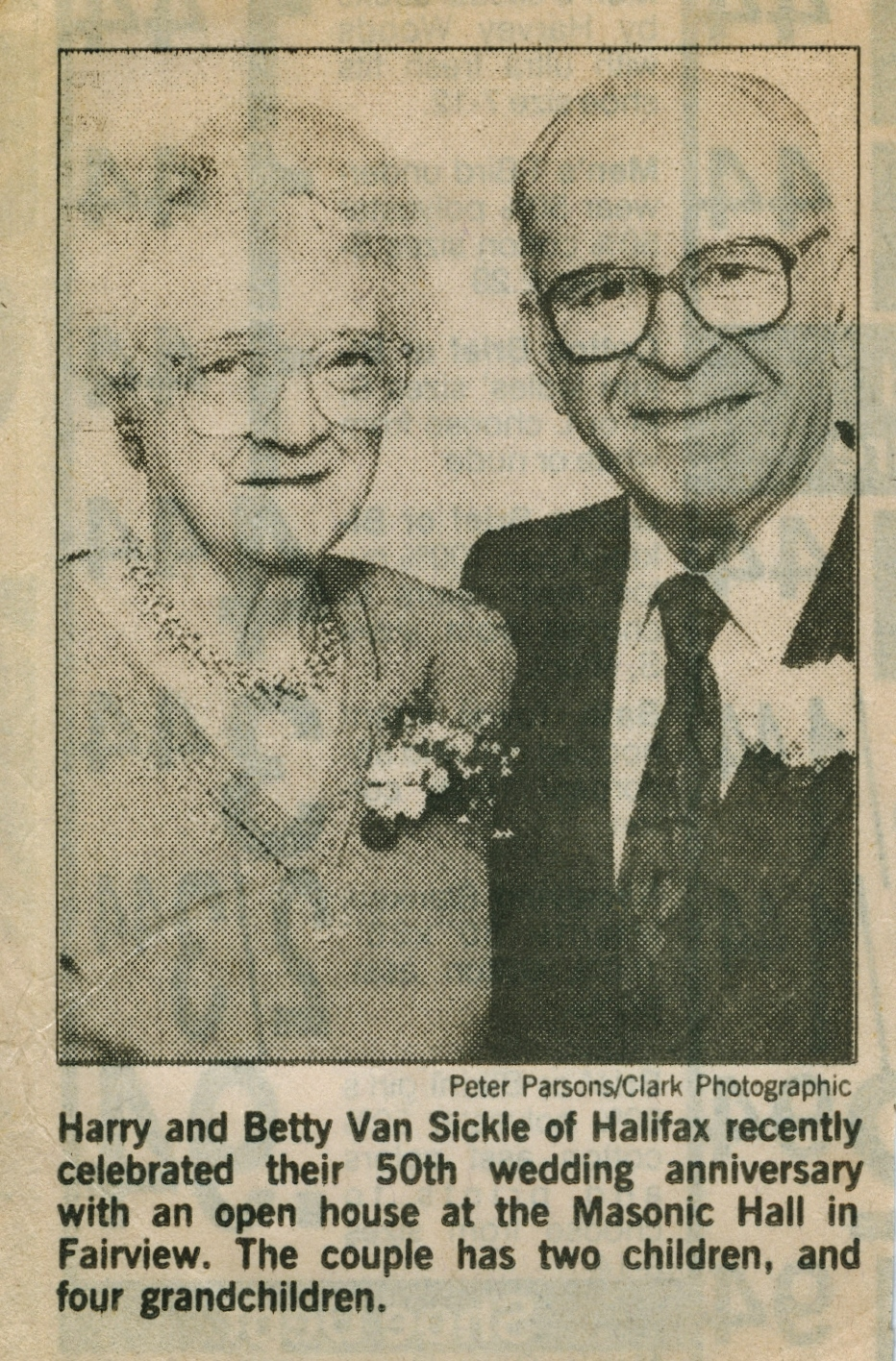 Alvin & Betty Vansickle 50th wedding