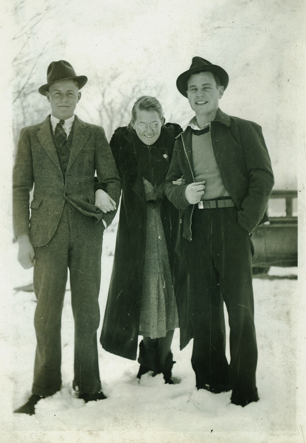 Chris & Pauline Steenburgh,  & Graham Vansikle 1936