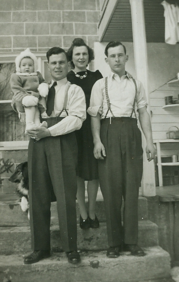 Graham, Edna & Alvin Vansickle  with Arlene (Campion) 1942