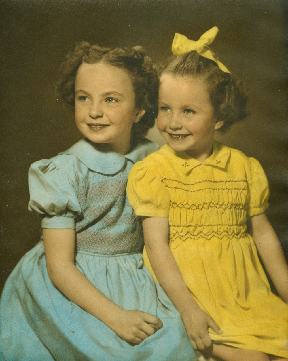 Edna Arlene Campion (McKee)  and Joyce Campion (Fraser)1949