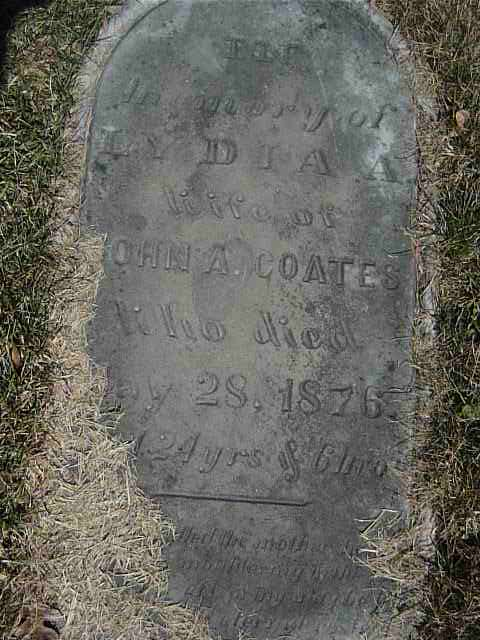 Gravestone disappearing under grass, by Cathie Jones